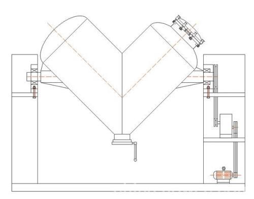 V型混合机图纸